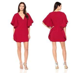 NEW! Halston Heritage Flounce Sleeve Mini Dress 0
